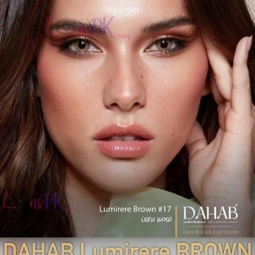 Buy Dahab Lumirere Brown Contact Lenses in Pakistan – Gold Collection - lenspk.com