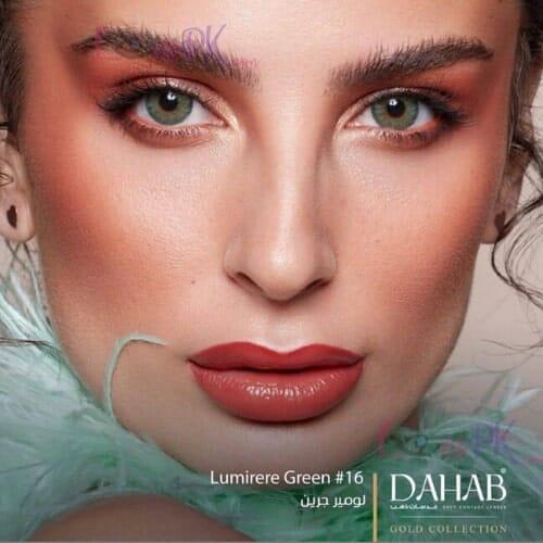 Buy Dahab Lumirere Green Contact Lenses in Pakistan – Gold Collection - lenspk.com