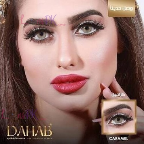 Buy Dahab Gold Contact Lenses in Pakistan – Caramel – Monthly - lenspk.com