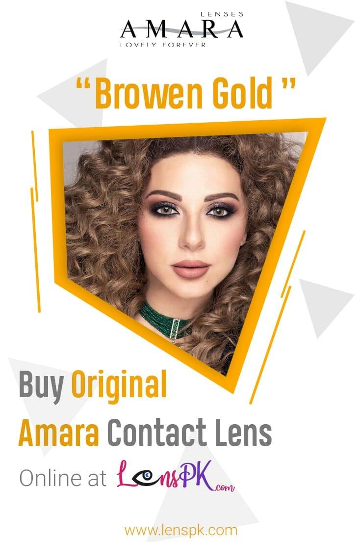 Brown Gold amara eye lenses