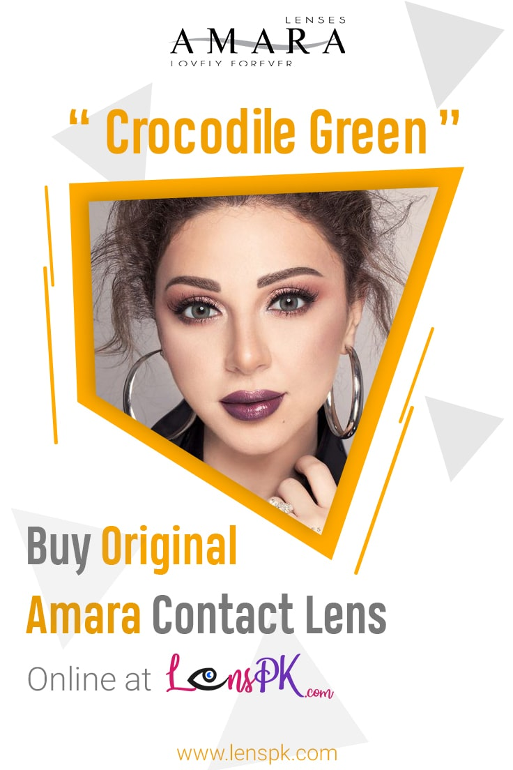 Amara Crocodile Green Eye Contact Lenses