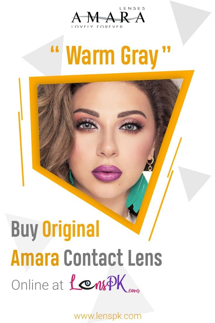 Warm Gray amara eye lenses