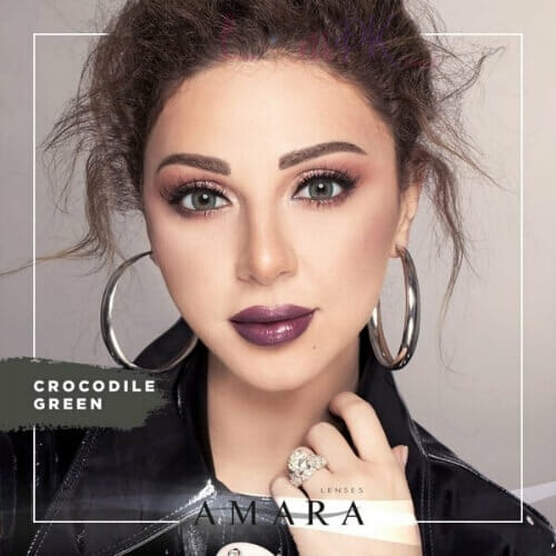 Buy Amara Crocodile Green Eye Contact Lenses in Pakistan @ Lenspk.com