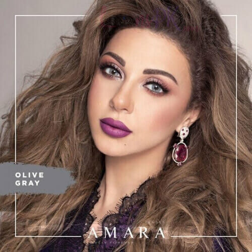 Buy Amara Olive Gray Eye Contact Lenses in Pakistan @ Lenspk.com