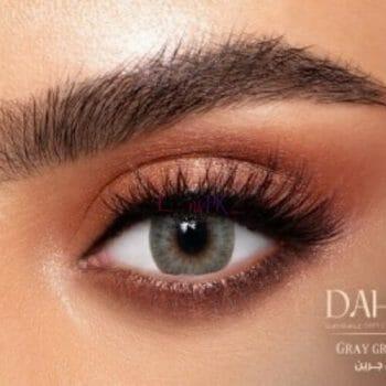 Buy Dahab Sabrin Gray Green Contact Lenses - One Day Collection - lenspk.com